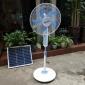 出口外贸太阳能可充电风扇交直流风扇东南亚市场LED灯USB插口风扇